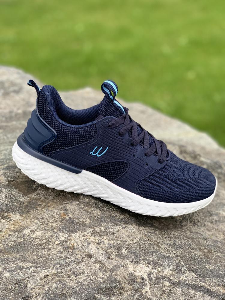Superlett blå joggesko med Grete Waitz støtdempende såle
